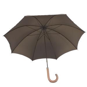 フォックス・アンブレラズ(FOX UMBRELLAS)《ハンドル/木目ダークウッドの細身傘(洋傘、蝙蝠傘、雨傘)GT1モデル》BROWN(ブラウン)|eton