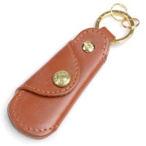 グレンロイヤル Glenroyal キーリング付きポケットシューホーン 03-5802 オックスフォードタン フルブライドルレザー&水牛の角|eton