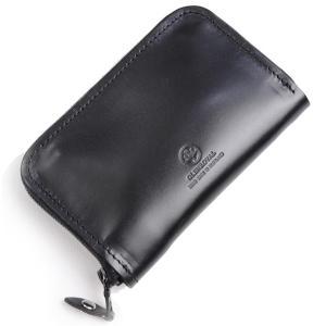 グレンロイヤルGLENROYALジップアラウンドケース ブラック 03-5997 多目的小型財布兼ケース ブライドルレザー|eton