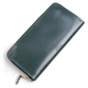 グレンロイヤル GLENROYAL ラウンドジップウォレット長財布 ボトルグリーン 03-6029 愛称デカジップ ブライドルレザー|eton