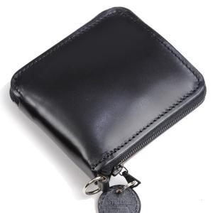 グレンロイヤルGLENROYALジップアラウンドウォレット リング付き ブラック 03-6156 ジップ式二つ折り財布小銭入れ付き ブライドルレザー|eton