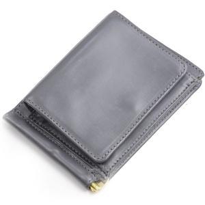 グレンロイヤル GLENROYAL 小銭入れ付きマネークリップ 03-6164 グレー フルブライドルレザー 新色限定カラー|eton