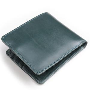 グレンロイヤル GLENROYAL 二つ折りコインケース付財布 ボトルグリーン 03-6171 ヒップウォレット ブライドルレザー|eton