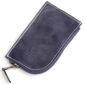 グレンロイヤル GLENROYAL ラウンド ジップキーケース ダークブルー 03-5212 フルブライドルレザー 小銭入れ兼用|eton