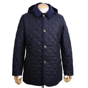 ラベンハム LAVENHAM メンズ キルティングジャケット デンストン2S ウール ネービーxブルー|eton