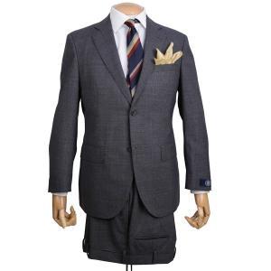 秋冬 Jプレス メンズ J.PRESS シングル2ボタンスーツ ニュー ジャックIIモデル ヴィンテージキューバービーチ素材 グレー|eton