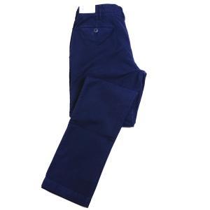 秋冬 Jプレス メンズ J.PRESS ノータック綿パンツ ストレッチモールスキン 5ポケット テーパードモデル ネイビー|eton