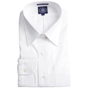 Jプレス メンズ J.PRESS MEN'S レギュラーカラーシャツ(チップカラー) 80/2スーピマピンオックス プレミアムプリーツ(形態安定機能)ホワイト|eton