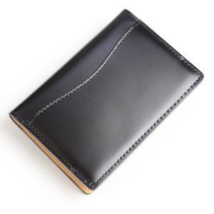 キース KIETH シェルコードバン ネームカードケース 名刺入れ ブラック 水染め本コードバン ビジネス用 日本製 eton