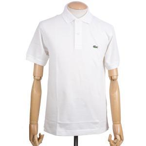 ラコステ(LACOSTE)メンズ 鹿の子半袖ポロシャツ L1212 アメリカ流通モデル アメラコ クラシックフィットモデル ホワイト|eton