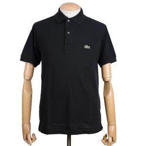 ラコステ(LACOSTE)メンズ 鹿の子半袖ポロシャツ L1212 アメリカ流通モデル アメラコ クラシックフィットモデル ブラック|eton