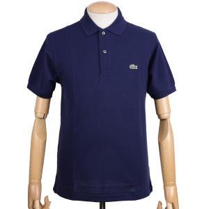 ラコステ(LACOSTE)メンズ 鹿の子半袖ポロシャツ L1212 アメリカ流通モデル アメラコ クラシックフィットモデル ネイビー|eton