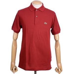 ラコステ(LACOSTE)メンズ 鹿の子半袖ポロシャツ L1212 アメリカ流通モデル アメラコ クラシックフィットモデル ボルドー|eton