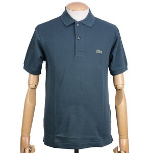 ラコステ(LACOSTE)メンズ 鹿の子半袖ポロシャツ L1212 アメリカ流通モデル アメラコ クラシックフィットモデル ケルプ|eton