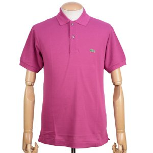 ラコステ(LACOSTE)メンズ 鹿の子半袖ポロシャツ L1212 アメリカ流通モデル アメラコ クラシックフィットモデル クリムゾンパープル|eton