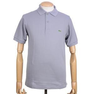 ラコステ(LACOSTE)メンズ 鹿の子半袖ポロシャツ L1212 アメリカ流通モデル アメラコ クラシックフィットモデル プラチナム グレー|eton