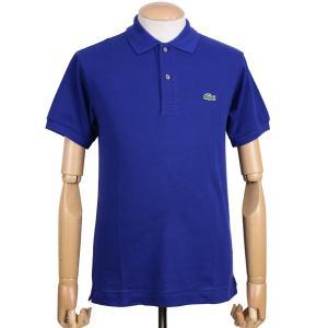 ラコステ(LACOSTE)メンズ 鹿の子半袖ポロシャツ L1212 アメリカ流通モデル アメラコ クラシックフィットモデル オーシャン ブルー|eton