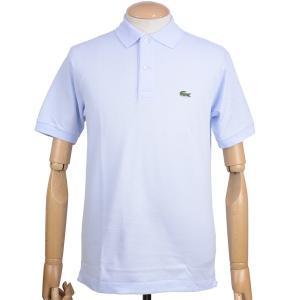 ラコステ(LACOSTE)メンズ 鹿の子半袖ポロシャツ L1212 アメリカ流通モデル アメラコ クラシックフィットモデル リル ライト ブルー|eton