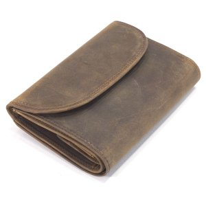 WHCのセカンドライン《OW1112 セトラー(SETTLER)三つ折ウォレットコインケース付財布(3 FOLD PURSE,WALLET,パース,小銭付,サイフ 》BROWN (ブラウン) eton