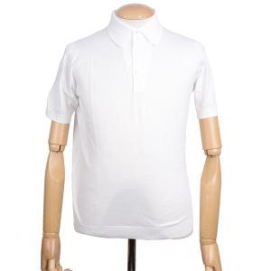 春夏 ジョンスメドレー メンズJOHN SMEDLEY 半袖ポロニットシャツ S3798 ホワイト シーアイランドコットンニット無地 英国王室御用達 日本別注モデル eton