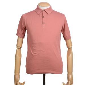 春夏 ジョンスメドレー メンズJOHN SMEDLEY 半袖ポロニットシャツ S3798 アザレア ピンク シーアイランドコットンニット無地 英国王室御用達 日本別注モデル eton