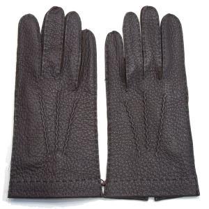 デンツ(DENTS)《No.15-1041 メンズ用グローブ(手袋/glove)ペッカリー(南米の猪豚科/幻の革・独特のしぼ感のある革/Peccary)ライニングなし》BARK eton