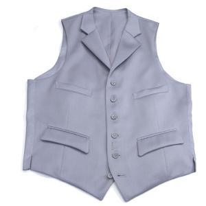 ラペル付グレーベスト[男の礼服 祝儀用、モーニングコート&デレィクターズコート用のグレーベスト、正礼装、準礼装の慶事に着用]|eton