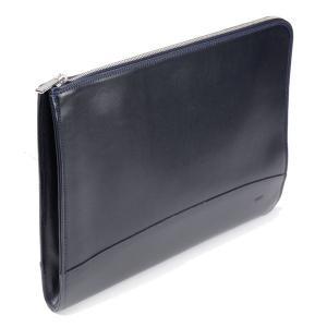 タスティング ドキュメント・ポートフォリオ クラッチバッグ(ドキュメントケース、ブリーフケース)携帯用書類入れ 牛革アトランテックレザー ネイビー|eton