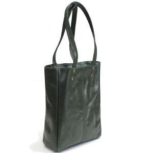 タスティング スチルトン-M トートバッグ 折り畳み可能の超軽量シューレザー バッファロー・仔水牛革 グリーン/TUSTING STILTON-M TOTE BAG SHOELEATHER GREEN|eton
