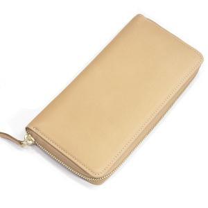タスティング(TUSTING) ジップ アラウンド ロングウォレット メンズ財布(メンズ長財布) バイカラー財布 ヌメ革(イタリアンカーフ) ナチュラル(NATURAL)|eton