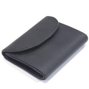 セトラー(SETTLER)ニューモデル《新製品 OW1058 スモール三つ折ウォレットコインケース付財布 3 FOLD PURSE,パース,小銭付,サイフ》BLACK (ブラック) eton