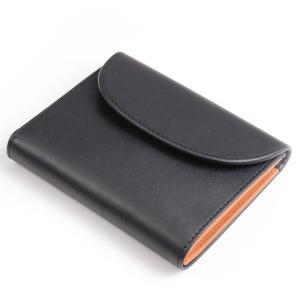 ホワイトハウスコックス 三つ折小銭入れ付財布ミニ s1058 ダービーコレクション スモールウォレット ツートンカラー ホースハイド ブラック x タン