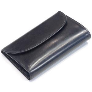 ホワイトハウスコックス(Whitehouse Cox)《S7660 三つ折ウォレットコインケース付(原型3つ折り財布)ブライドルレザー 永世定番モデル》BLACK(ブラック) eton