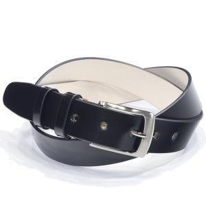キース KIETH m88991-s19 シェルコードバンベルト ブラック SHELL CORDOVAN BELT 一枚革 ノンステッチ フリーサイズ シルバーバックル|eton