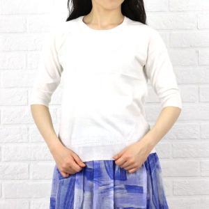 Crespi(クレスピ) コットン5分袖プルオーバーニット・104-4406-1791401 etre!par bleu comme bleu