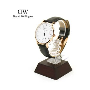 Daniel Wellington(ダニエル・ウェリントン)レザーストラップ ローズゴールド ラウンド 腕時計・1101DW-3171502【1F-W】|etre