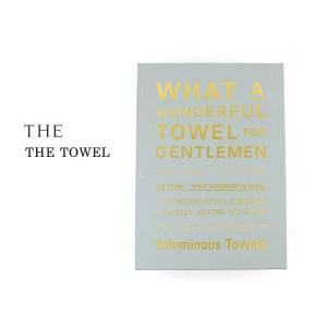 ザ バスタオル THE TOWEL for GENTLEMEN 箱入り THE 1301-0056 国内正規品 2017秋冬新作 送料無料 1F-W adultcasual_yfashion|etre
