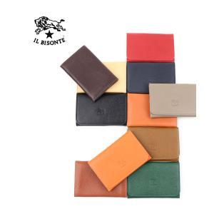 イルビゾンテ IL BISONTE レザー カードケース・411620-0061501 メール便可能3|etre