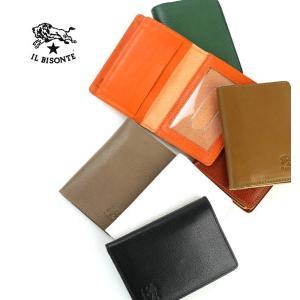 イルビゾンテ IL BISONTE レザー カードケース付き 定期入れ・411740-0061501 メール便可能3|etre