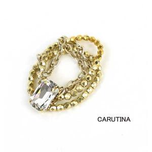 CARUTINA(カルティナ)ジュエル ブレスレット ゴールド・BL6002-60-1211601|etre