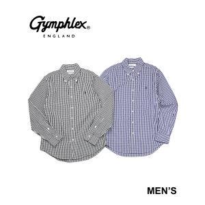 ジムフレックス 長袖シャツ ボタンダウンシャツ メンズ Gymphlex 2021春夏新作 メンズ 国内正規品 etre!par bleu comme bleu