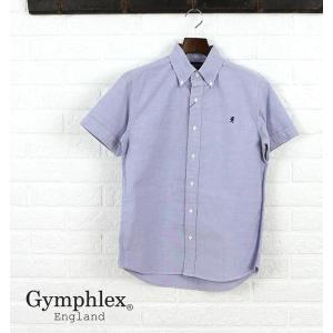 ジムフレックス Gymphlexコットン オックスフォード 半袖 ボタンダウンシャツ・J-0937YOX-0321501【JP】|etre