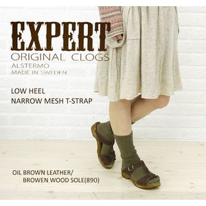 EXPERT(エキスパート) LOW HEEL NARROW MESH T-STRAP・NEP1211L・シューズバッグ