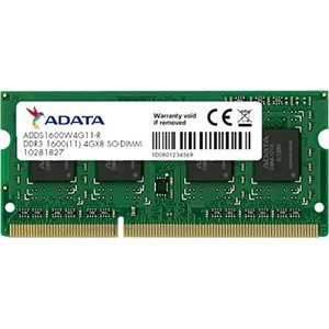 ノートPC用メモリ ADATA ADDS1600W4G11-R [4GB DDR3L 1600MHz(PC3-12800) 204Pin SO-DIMM 512x8]|etrend-y