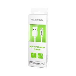 USBケーブル データ&充電用 ADATA AMFIPL-100CM-CWH [Apple MFi認証 Sync & Charge Lightning ケーブル 1m Plastic ホワイト] etrend-y