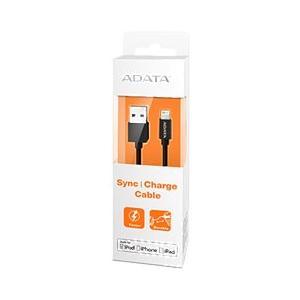 USBケーブル データ&充電用 ADATA AMFIPL-100CM-CBK [Apple MFi認証 Sync & Charge Lightning ケーブル 1m Plastic ブラック] etrend-y