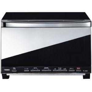 ツインバード TS-D057B [ミラーガラスオーブントースター]【4枚焼き 温調付き 温度調節 ミラー調 黒 シンプル 4枚 ピザ】|etrend-y