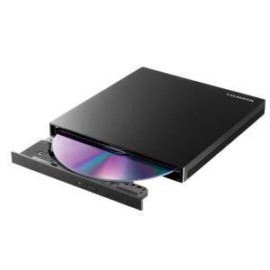 ポータブルDVDドライブ アイオーデータ EX-DVD04 EX-DVD04K [USB 3.0/2.0 バスパワー対応ポータブルDVDドライブ ピアノブラック]の画像