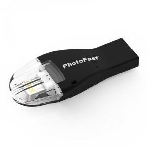 Micro SDカードリーダー iOS専用 PhotoFast 4KiReader S [Lightning/USB 3.0対応 Micro SDカードリーダー MFi認証取得 iPhone/iPad対応 ブラック]|etrend-y