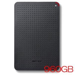 ポータブルSSD バッファロー SSD-PL960U3-BK/N [USB3.1(Gen1) 小型ポ...